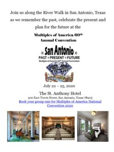 2020 Multiples of America 60th Annual Convention @ The St. Anthony Hotel